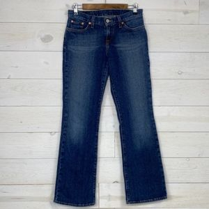 Lucky Brand Dungarees Mid Rise Flares Sz 6/28